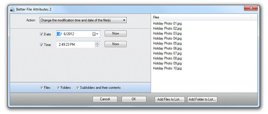 Click to view Better File Attributes 2.0 screenshot