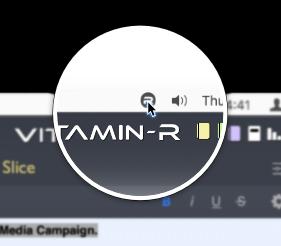 menu bar with main window