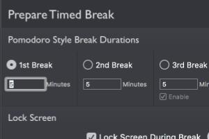 timed break