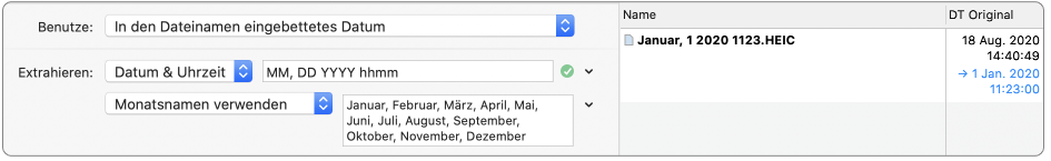 dates embedded in file names